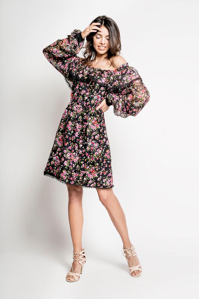 """6d316c177b MIKOTO – jedwabna sukienka """"hiszpanka"""" – Myoko.pl Ekskluzywny sklep ..."""