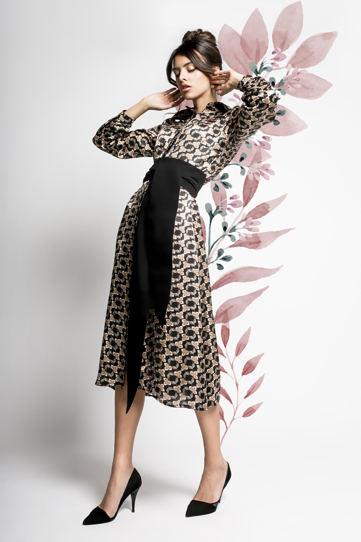 dc75de06c8 KIOTO – jedwabna sukienka z pasem – Myoko.pl Ekskluzywny sklep z ...